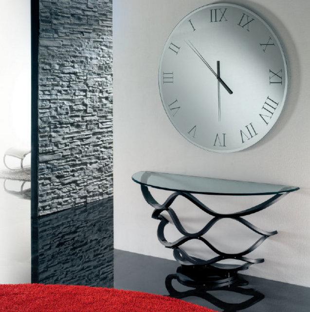Reflex specchio titanium 39 orologio 39 ad arredamenti - Orologio a specchio ...